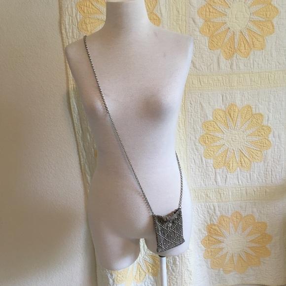 Liquid Metal Handbags - Liquid Silver Mesh Mini Bag